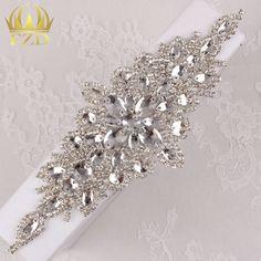 (30pieces) Wholesale Hot Fix Sew On Sliver Crystal Beaded Bridal Rhinestone…