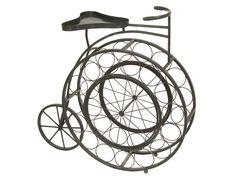 Botellero de hierro bici antigua