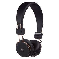 05675ce5802 KitSound Black 'Manhattan' over ear wireless bluetooth headphones KSMHNRG