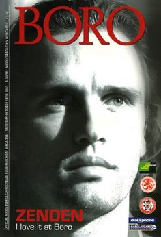 Middlesbrough vs Newcastle United 2003 Cover Star Bolo Zenden