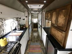 Airstream Renovation Remodel Airstream Kitchen DIY 1972 Sovereign