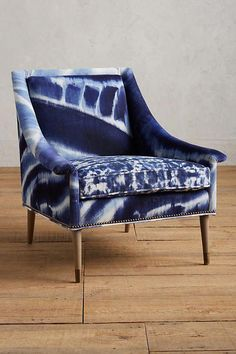 Shop the Shibori-Printed Tillie Armchair Unique Living Room Furniture, Accent Chairs For Living Room, Classic Furniture, Home Furniture, Furniture Design, Navy Furniture, Furniture Chairs, Luxury Furniture, Shibori
