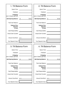 Daily Cash Sheet Template  Cash Count Sheet  Audit Working