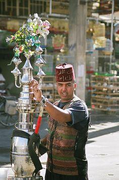 Tea seller, Damascus, Syria by iancowe, via Flickr