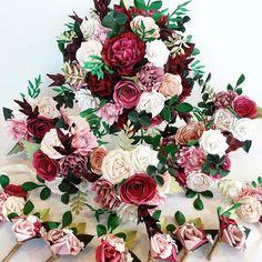 Paper Flowers Wedding, Flower Bouquet Wedding, Wedding Paper, Paper Bouquet, Pink Bouquet, Bouquets, Alternative Bouquet, Alternative Wedding, Uk Bride