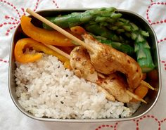 This looks really yummy and is easily done with things you can buy at the grocery store. Don't have to live in Japan to do bento!