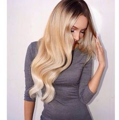 """Desi Perkins wearing Guy Tang signature Balayage Ombre hair extensions #8/#60 220 g 22"""" available at @bellamihair http://www.bellamihair.com/pages/bellami-balayage-by-guy-tang hair color by Beau Dieda Use code PINMI at checkout for savings!"""