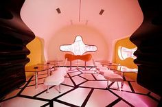 Interiors World: Pop Art Interior Design of Majik Cafe by Karim Rashid