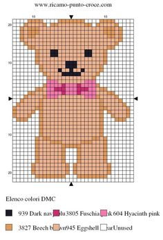 Teddy Bear perler bead pattern                                                                                                                                                                                 More