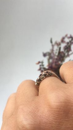 Fine Antique Victorian Gold Garnet Paste and Seed Pearl Diamond Flower, Rose Cut Diamond, Seed Pearl Ring, Victorian Ring, Ring Crafts, Three Stone Rings, Garnet Rings, Red Garnet, Vintage Diamond