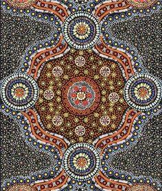 Wild Bush Flowers Black Australian Aboriginal print at HeartSong Quilts.