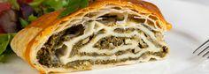 strudel ze szpinakiem i gorgonzolą