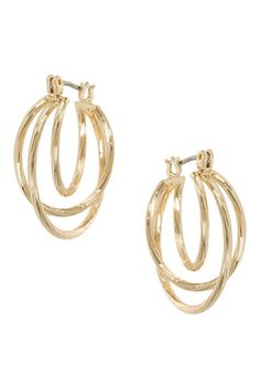 Twisted Circle Hoops, £4.50 | Topshop