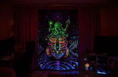 Backdrop Ganesha Psychedelic Deco Wandbehang 1m x 1,5m Hippie Goa Design Kunst