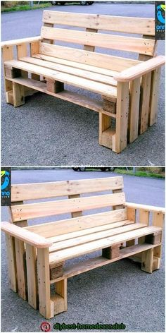 Incredible DIY Ideas With Pallets Wood Reusing Beautiful wooden pallets bench The post Incredible DIY Ideas With Pallets Wood Reusing appeared first on Pallet Ideas. Pallet Furniture Designs, Pallet Garden Furniture, Wooden Pallet Projects, Diy Outdoor Furniture, Pallet Crafts, Wooden Pallets, Pallet Ideas, Diy Furniture, Pallet Benches
