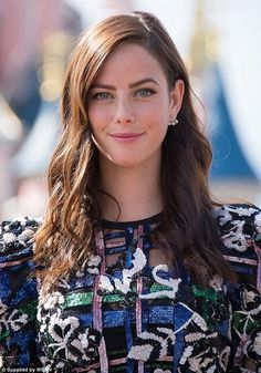 Sparkling: Kaya Scodelario wowed in a semi-sheer dress on Sunday when she attended a Pirates Of The Caribbean event at Disneyland Paris alongside her famous co-stars