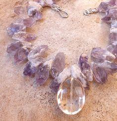 Amethyst and crystal