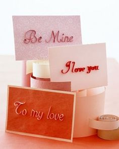 A Page full of Martha Stewart Valentine's Day Gifts, Crafts, + Activities.