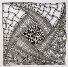 """Tickled To Tangle: """"It's a String Thing"""" #43 Tiles"""