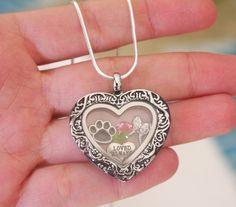 Pet Memorial Necklace Gift, Dog Memorial, Cat Memorial, Paw Angel Wing Necklace, Heart Locket, Birthstones Locket, Always Loved Locket
