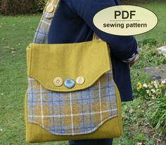 DESCRIPTION: Please note: If you wish to make a few bags from Charlie's Aunt sewing patterns or books to sell, please read the rules in the additional information section of our policies page. Inspired by my combined passions of sewing, journalism and history, the Rural Correspondent Bag honours the memory of the wartime correspondents, who kept Britain up to date with news during a period of uncertainty, rationing and austerity. This 1940s-style messenger satchel can be made with, or…