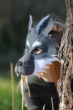 Wolf Mask PATTERN. Digital Sewing Pattern Kids Wolf Costume.