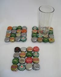 Bottle cap coaster…sooo doing this along with a bottle cap table for the game room!
