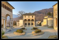 the devotional complex at Sacro Monte di #Varallo, #Piemonte, #Italy - Late Mannerist style begun in 1583