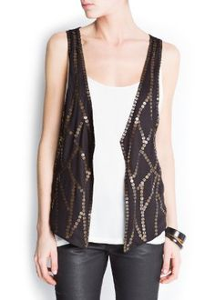 $79.99 Amazon.com: Mango Women's Metal Embellished Vest, Black, 99: Clothing -- still need that vest for Prohibition Party