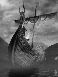 For three turbulent centuries, the glimpse of a square sail and dragon-headed prow on the horizon struck terror into the hearts of medieval Europeans. Indeed, the Viking Age, from A.D. 800-1100, was the age of the sleek, speedy longship. Without this crucial advance in ship technology, the Vikings would never have become a dominant force in medieval warfare, politics, and trade. #vikings #vikingship #bikingboat #viking #drakkar #dragonship #battleship #vikingsfacts
