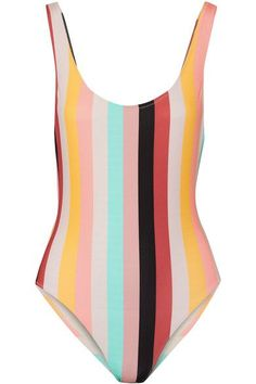 Multicolored stretch-polyamide  Pulls on 80% polyamide, 20% elastane; lining: 85% polyamide, 15% elastane  Hand wash Lotion, sunscreen, oil and chlorine can cause discoloration of this item; this is not a manufacturing defect. Please follow care instructions to keep your swimwear in the best condition Imported