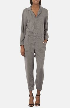 Topshop Utilitarian Cotton Jumpsuit available at #Nordstrom