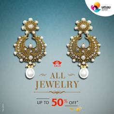 Buy Indian Jewelry online - a wide range of fashion, costume & artificial jewelry in stunning designs. Discover the most artistically crafted sets at Utsav Fashion. Indian Jewellery Online, Indian Jewelry, Traditional Indian Jewellery, Fashion Sale, Anklets, Antique Gold, Jewelry Shop, Gold Earrings, Diamonds