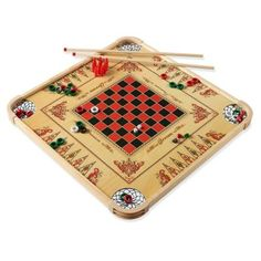 This is the original game board that started it all for the Carrom Company 130 years ago. Bring a host of classic American games home with this versatile and reversible, unique wooden Carrom Game Board that features over 100 games. The most popular games played on this table game is carroms and crokinole, but it also features backgammon, pool, billiards, ring out, pins, checkers, chess, and many more. As always, Carrom family games are 100% American Made!. 100 Games, More Games, Games To Play, Family Game Night, Family Games, Carrom Board Game, Skittles Game, Arcade Basketball, Faux Beams