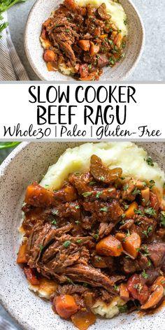Vegetable Slow Cooker, Healthy Slow Cooker, Slow Cooker Beef, Slow Cooker Recipes Paleo, Paleo Crock Pot, Gluten Free Recipes Crock Pot, Crock Pot Beef, Healthy Crock Pot Meals, Whole30 Beef Recipes