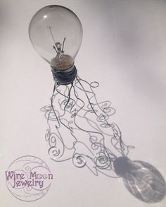 Wire Light Bulb Jellyfish Sculpture by WireMoonJewelry on Etsy, $35.00