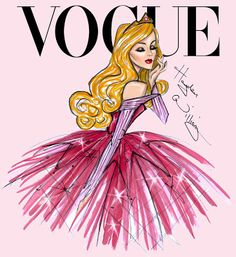 Hayden Williams Fashion Illustrations: Disney Divas for Vogue by Hayden Williams: Aurora