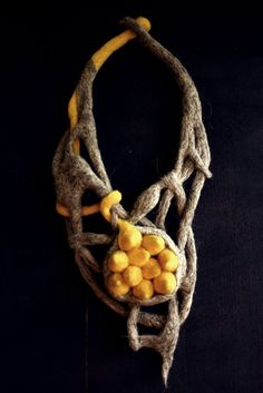 [malum]BIOPHILIA - felted jewelry by adina marin, via Behance