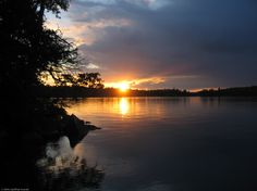 The sunset on Lake Temagami on August Pictures Of The Sun, Human Eye, Skylights, Sunrises, Beautiful Sunset, Fireworks, Nature, Outdoor, Life