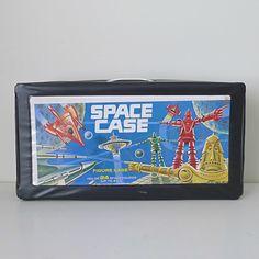 "Vintage Action Figure Carrying Case, 1980s, ""Space Case""."