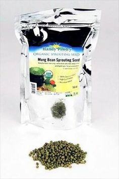 Mung Bean Sprouting Seed- Organic - 1 Lbs- Dried Mung Beans for Sprouts, Garden Planting, Chinese & Asian Cooking, Soup & More. by Handy Pantry. $6.75. 1 Lb. Dry Mung Bean Seed. Certified Organic Sprouting Seeds. Mung Bean sprouts are high in choline, protein and the amino acid methionine, Vitamins A, B complex, C and E; minerals calcium, magnesium, potassium, and phosphorous; trace minerals zinc, chromium and iron.   Mung bean sprouts have a crisp, crunchy texture and a ...