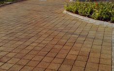 Prático e eficiente, o piso drenante não precisa de manutenção. Caso do modelo Fulge Drenante cor gergelim