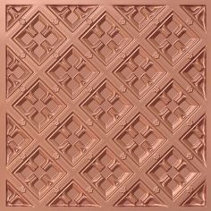 279 Faux Tin Ceiling Tile for a grid system can be simply dropped into your suspended ceiling. Antique Finishes available.