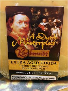 This Rembrandt masterpiece of Gouda Package Labeling was noticed only after being engaged by the overall circular island cheese display, with lower shelf cross-sell to supporting crackers and spark… Cheese Display, Gouda, Art Store, Rembrandt, Charcuterie, Crackers, Shelf, Nutrition, Island