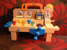 Bob the Builder Toy Tool Talking Workbench Electronic Lights Sounds + Books Lot #LearningCurve