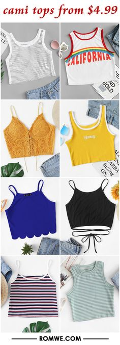 cami tops from $4.99