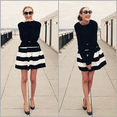 Have the skirt ... Idea for styling it for fall.  Maybe with black tights and ankle boots too?