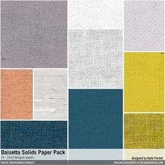 Daisetta Solids Paper Pack textured solids in painted linens for a cardstock foundation #designerdigitals