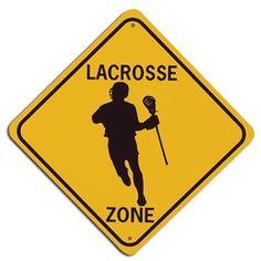Lacrosse Zone Street Sign-Boy - WorldLacrosseShop.com
