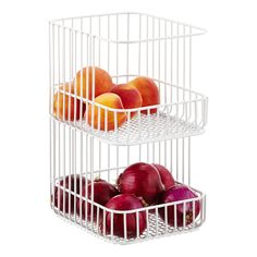 "ContainerStore...Scala Stacking Basket...9"" x 11"" x 7-7/8"" h...$19.99"